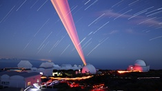 Startrails with Laser